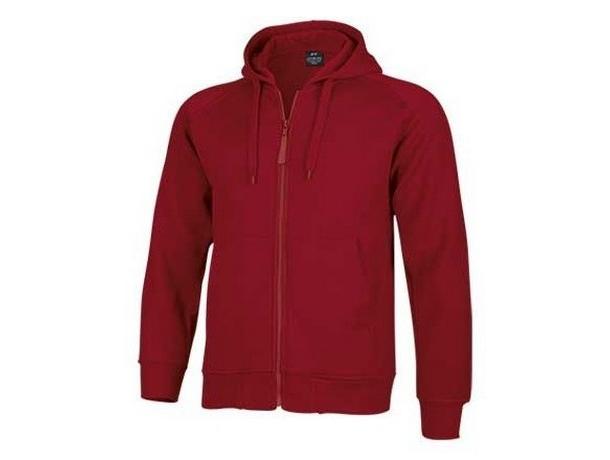 sudadera personalizada roja con capucha