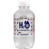 Botella de agua con etiqueta de plástico personalizada