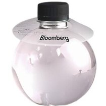Botella de agua de 33 cl con collarín de plástico personalizada
