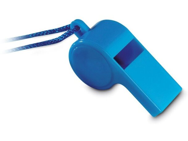 Silbato con cordón de seguridad personalizado azul