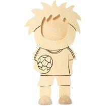 Marco de fotos en madera motivo futbolista barato beige