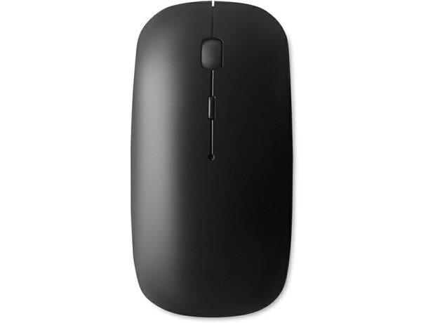 Ratón sencillo inalámbrico personalizado negro