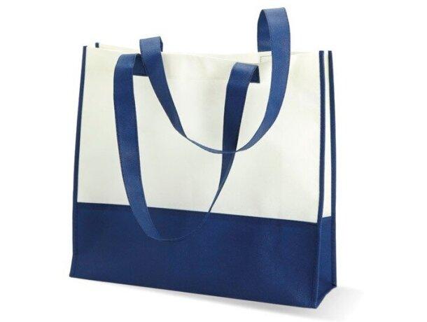 Bolsa para la compra o la playa grabada azul