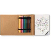 Pack para colorear con dibujos y lápices barato