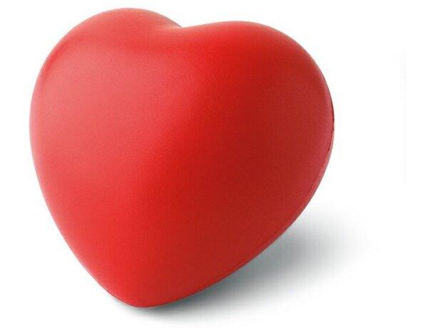 Antiestrés corazón blanco o rojo rojo