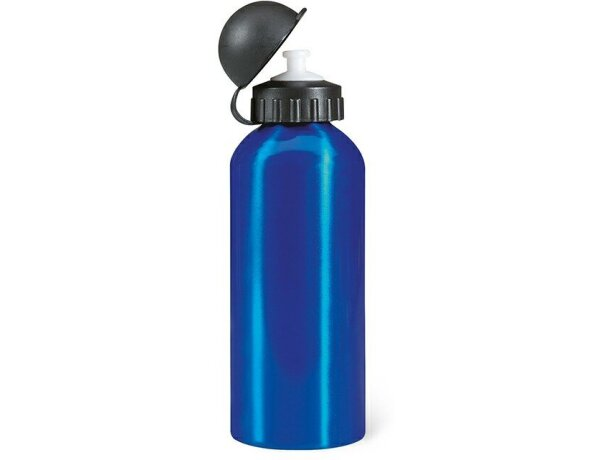 Bidón botella de metal 600 ml grabado azul