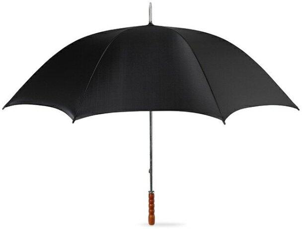 Paraguas mango recto en poliester personalizado negro