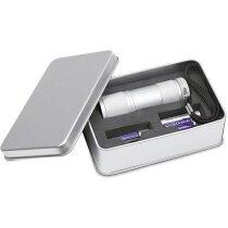 Linterna led de aluminio en caja