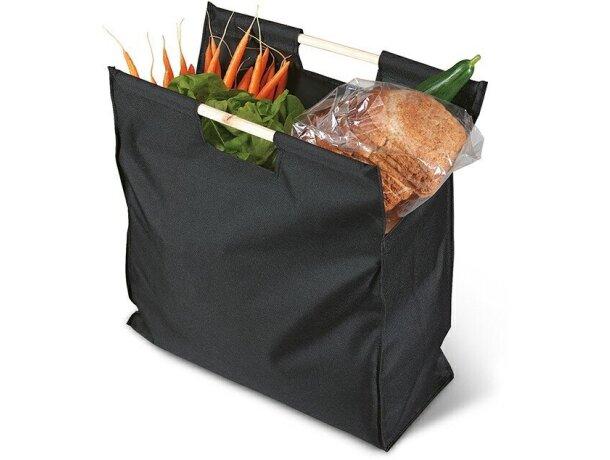 Bolsa de la compra con asas de madera negra