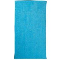 Toalla de playa en rizo de algodón personalizada azul