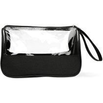 Neceser moderno con ventana transparente personalizado negro