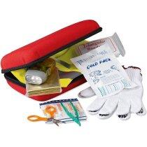 Botiquín de primeros auxilios con piezas incluidas personalizado rojo