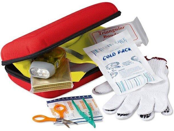 Botiquín de primeros auxilios con piezas incluidas