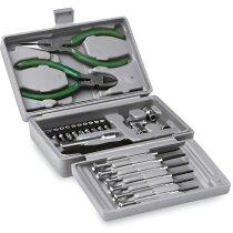 Caja de herramientas con 25 piezas plateado