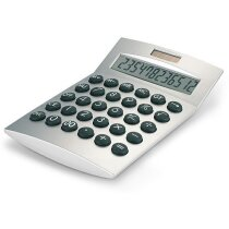 Calculadora de 12 dígitos básica plateado mate