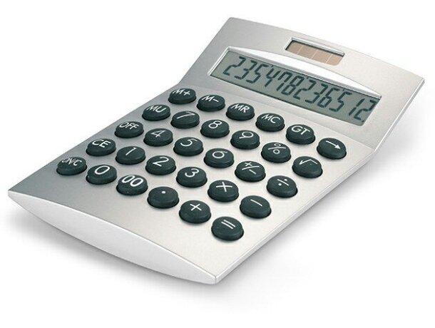 Calculadora de 12 dígitos básica plateado mate personalizada