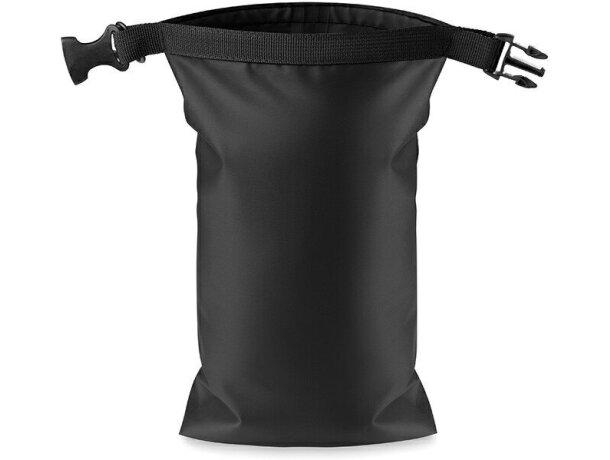 Bolsa impermeable de pvc en varios colores grabada negra