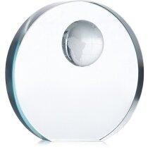 Trofeo de cristal con forma de esfera personalizada violeta