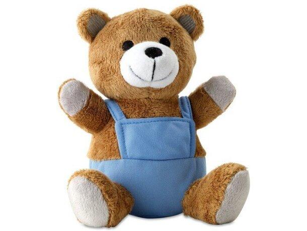 Muñeco oso de peluche personalizado azul