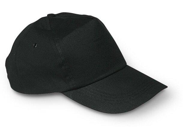 Gorra básica fabricada en algodón liso negra