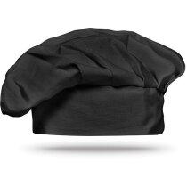 Gorro de chef 130gr m2 negro personalizado