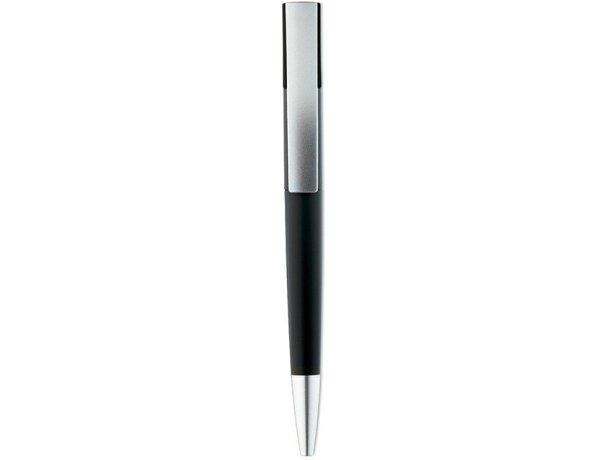 Bolígrafo giratorio con tinta azul personalizado negro