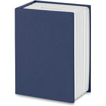 Hucha en forma de libro para niños personalizada azul