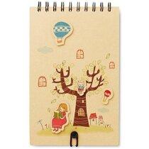 Cuaderno para dibujar con 12 lápices personalizado beige