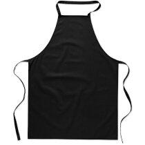 delantal de cocina en algodón personalizado negro