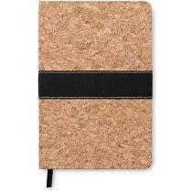 Cuaderno tamaño A5 con tapas de corcho personalizado marron