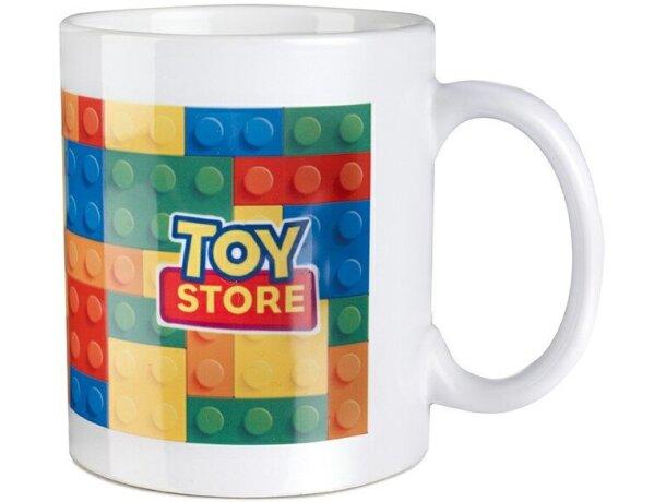Taza de cerámica lisa para sublimacón a todo color para empresas