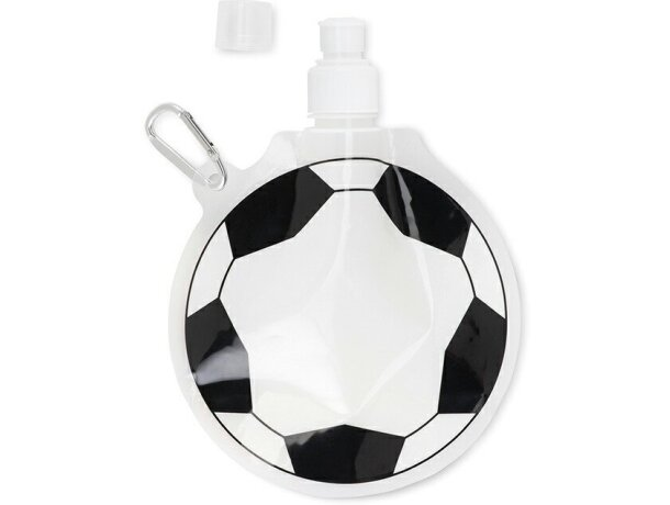 Botellín plegable forma de pelota personalizado blanco