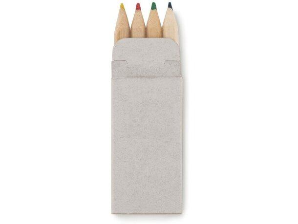 Caja de cartón con lápices de colores personalizada beige