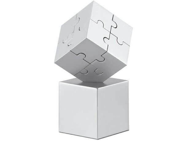 Puzzle 3d magnético personalizado plateado mate