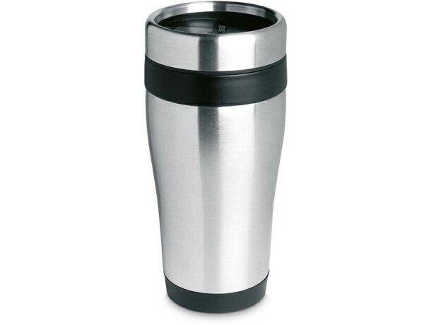 Vaso de acero térmico de diseño negro