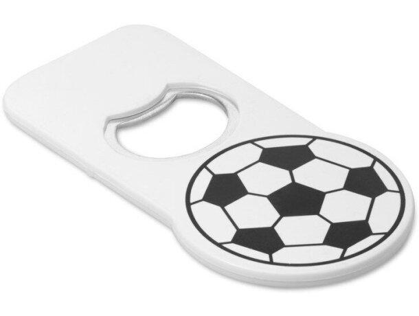 Abridor con detalles de fútbol personalizado blanco