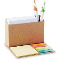 Lapicero pleglable con notas personalizada beige