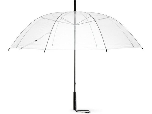 Paraguas transparente personalizado violeta