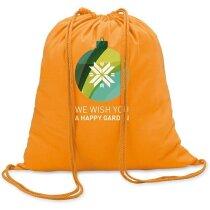 Mochila saco algodon 100gr personalizada naranja