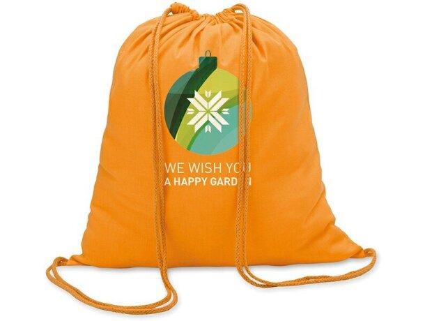 ca0c16141 Mochila saco algodon 100gr personalizada naranja