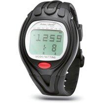 Reloj con pulsómetro deportivo personalizado negro