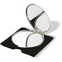 Espejo de aluminio con funda de regalo personalizado plateado mate