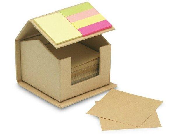 Set de notas adhesivas en forma de casita