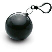 Poncho en bolsa con mosquetón personalizada negra