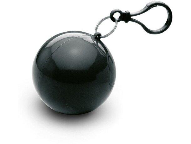 Poncho en bolsa con mosquetón economica negra