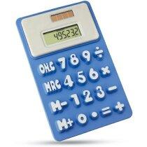 Calculadora solar de silicona azul