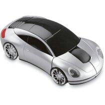 Ratón coche inalámbrico personalizado plateado mate