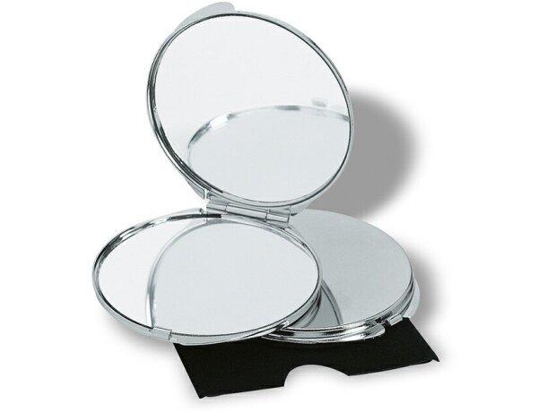 Espejo cromado con funda personalizado plateado brillante