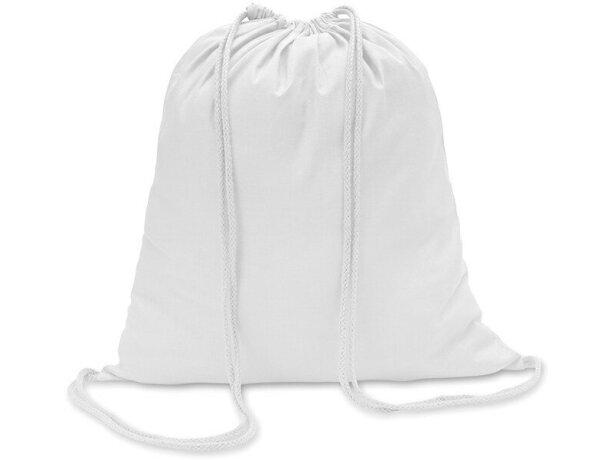 Mochila saco algodón 100gr personalizada blanca