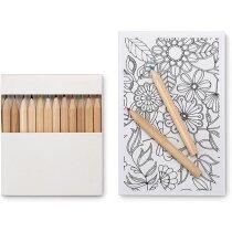 Set de dibujo para adultos y lápices personalizado blanco